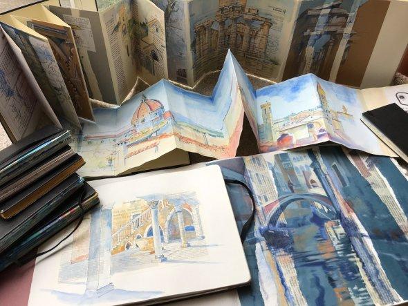 Travel sketchbooks