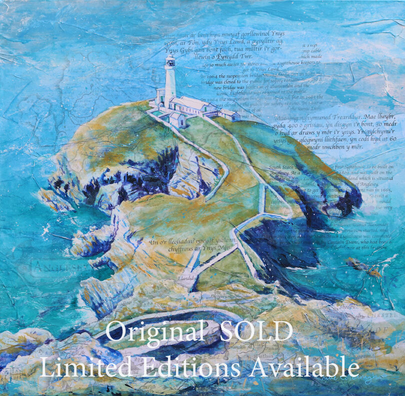 Painting on canvas of South Stack Lighthouse