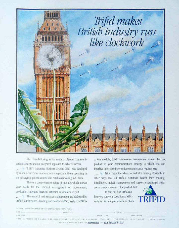 As efficient as Big Ben. Commission for 'Trifid'.