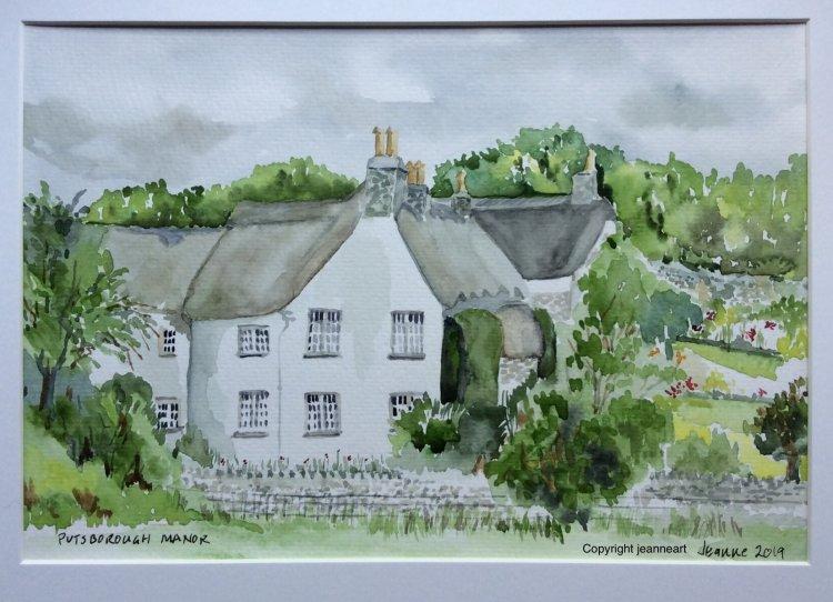 Putsborough Manor North Devon. Watercolour