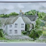 Putsborough Manor North Devon. Watercolour