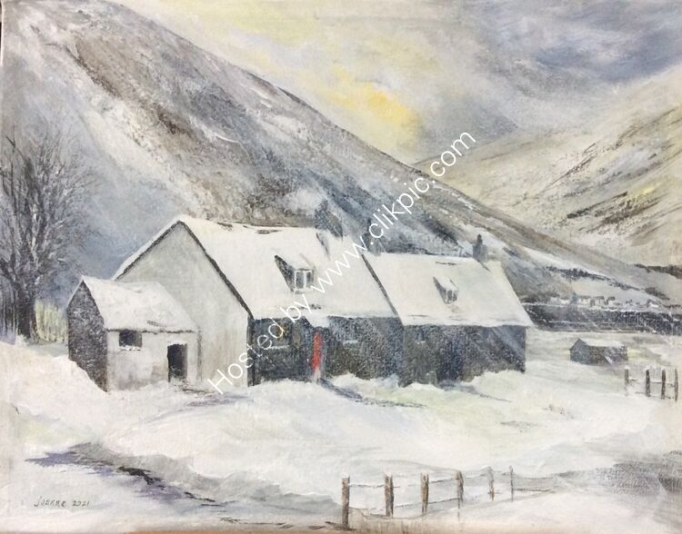 Scottish Cottages in a blizzard