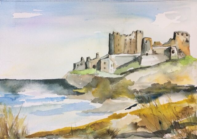Bamburgh Northumberland Watercolour