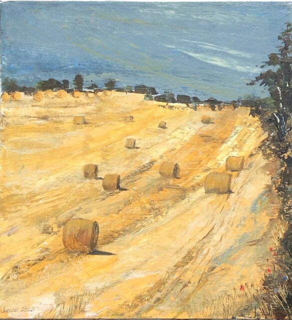 Between Octon and Cowlam East Yorkshire - acrylic