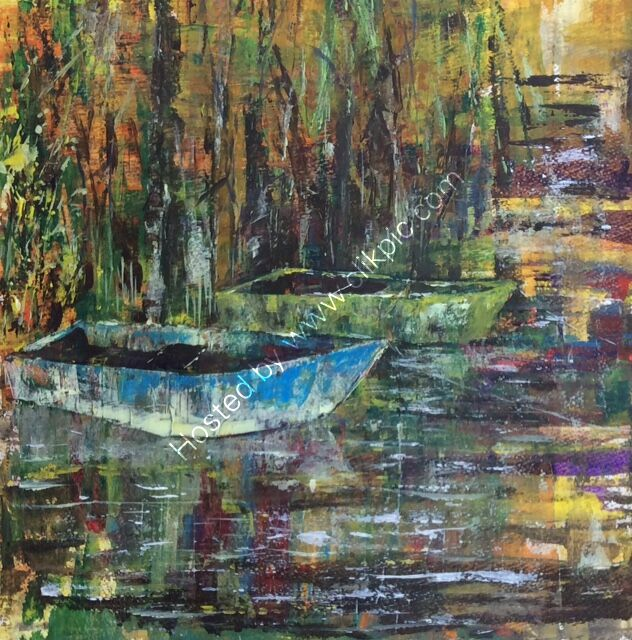 Up the creek without a paddle Acrylic