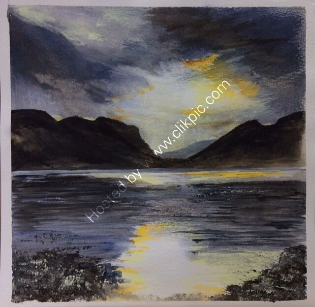 Evening Light on Loch Torridon Scotland - acrylic