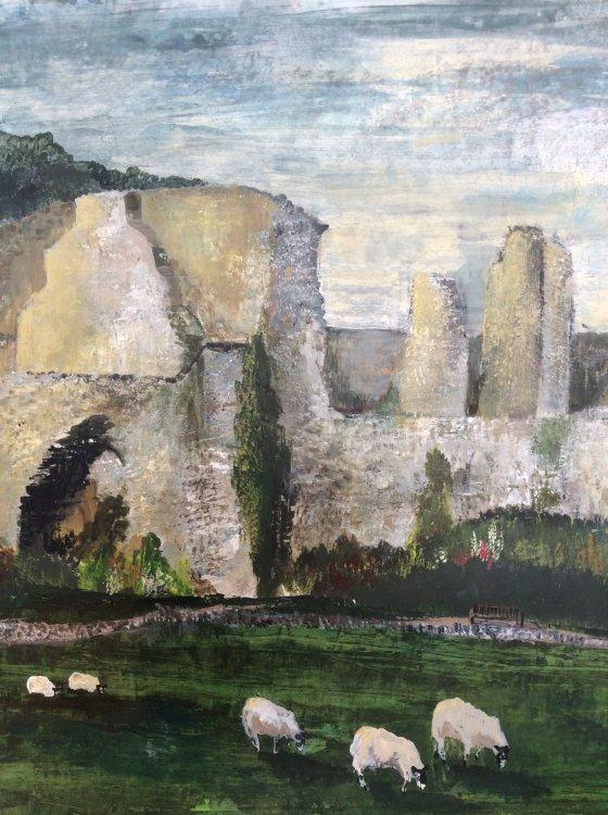 Jervaulx Abbey. Acrylic. Original & prints available
