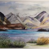 Lake Tekapo NZ watercolour