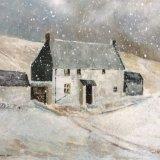 CC1017 Remote farmhouse in winter snow