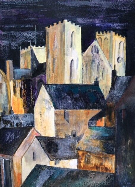 Ripon Cathedral - acrylic abstracted style