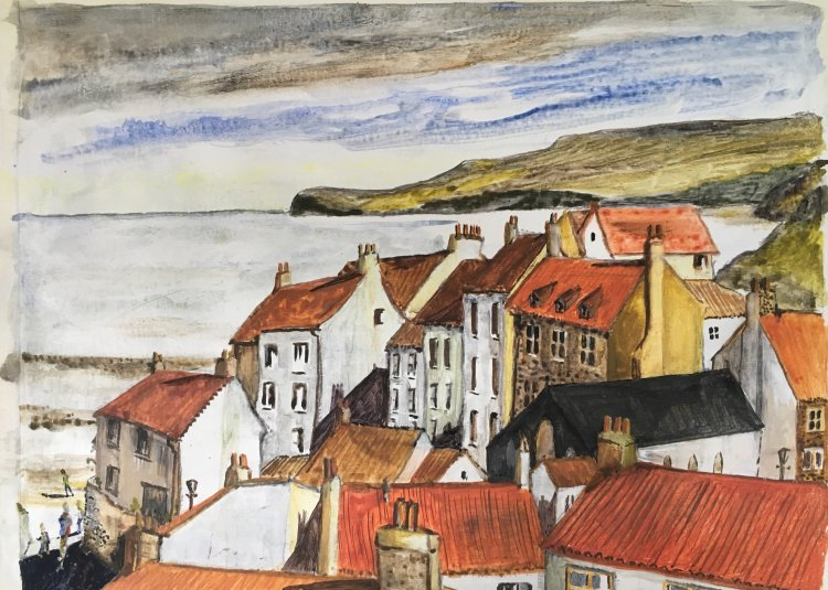 'Inpspired by Robin Hoods Bay' Watercolour inks and pen
