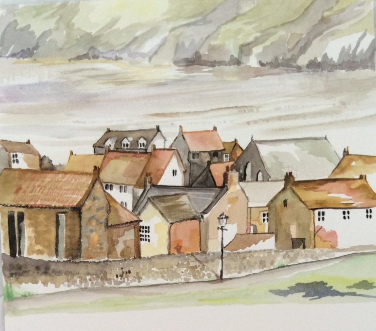 Robin Hood's Bay  Watercolour