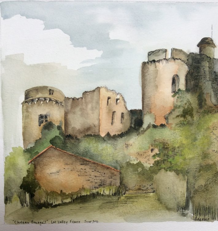 Ruined chateau Lot Valley France