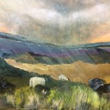 Sheep in Swaledale  inspried by view from Tan Hill looking towards Keld. This is available as a limited edition print.