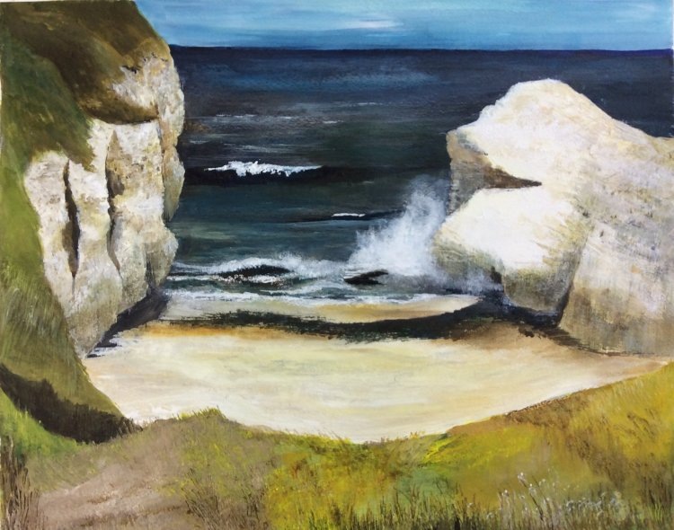 Thornwick Bay Flamborough  Acrylic