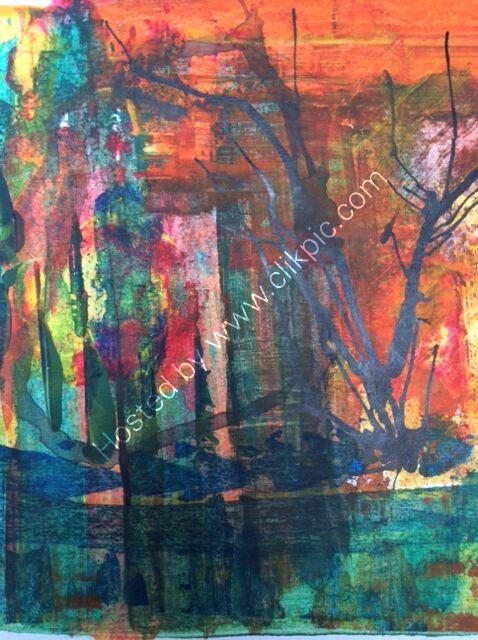 Woodland Reflections - acrylic abstract