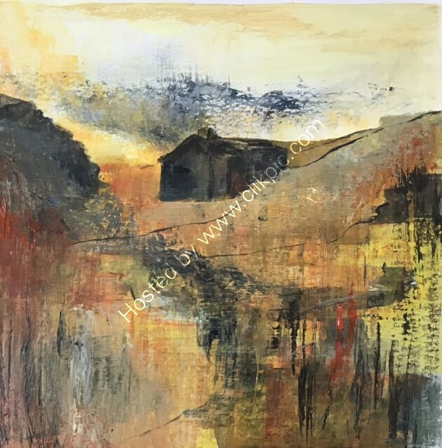 Abandoned farmhouse Yorkshire Dales Acrylic SOLD (prints available)