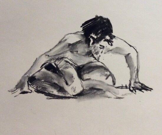Crouching male
