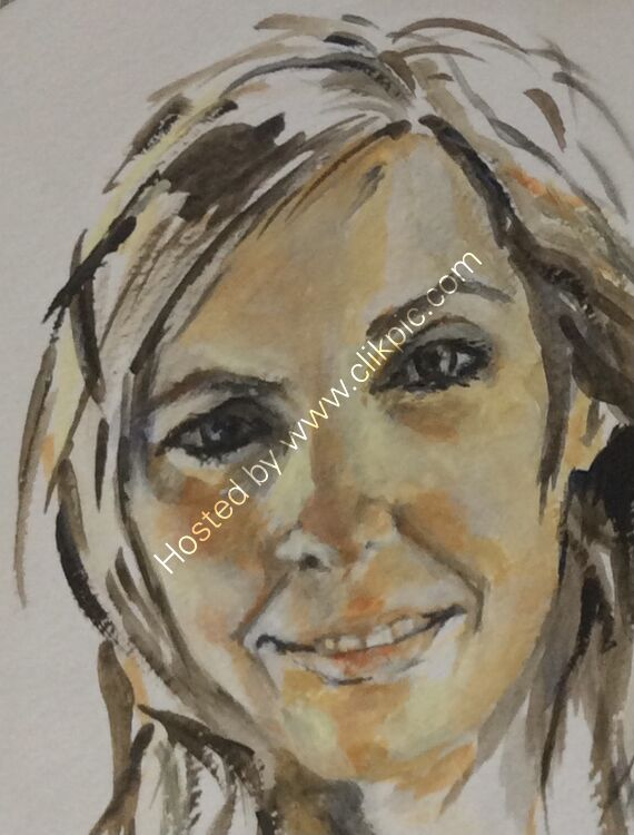 My daughter Mary - caricature