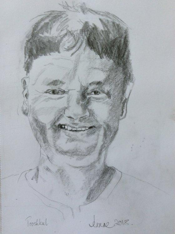 Pooshkul - pencil portrait