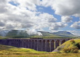 Ribblehead Viaduct with steam train