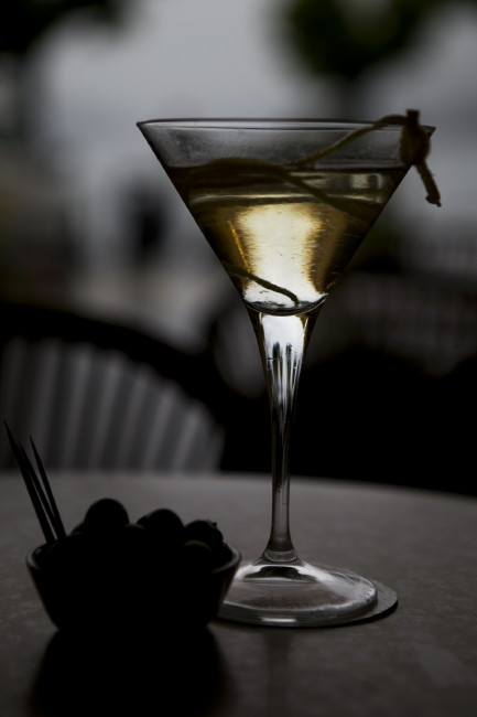 """""""Vesper"""" Cocktai served in Bellagio"""