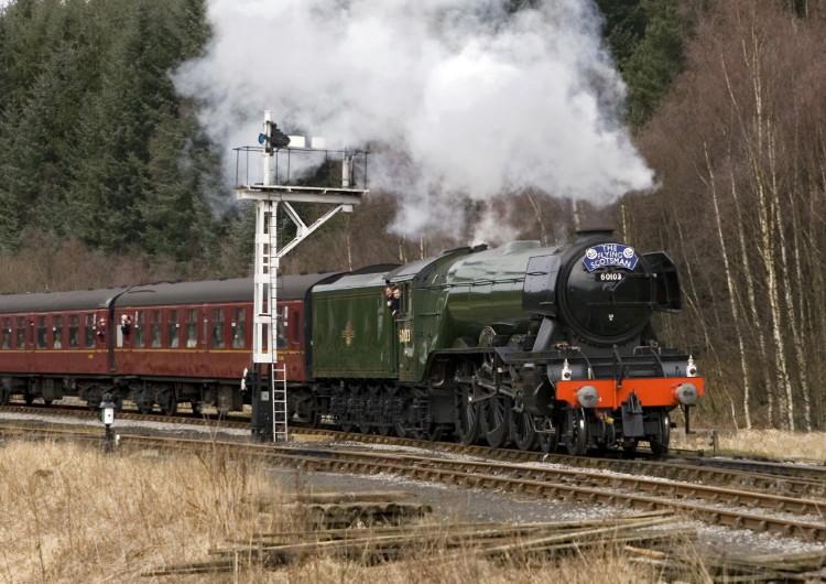 The Flying Scotsman entering Levisham Station