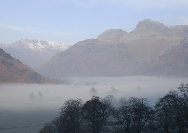 Misty Dawn in the Langdale Valley