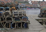 Lobster baskets in Whitby harbour