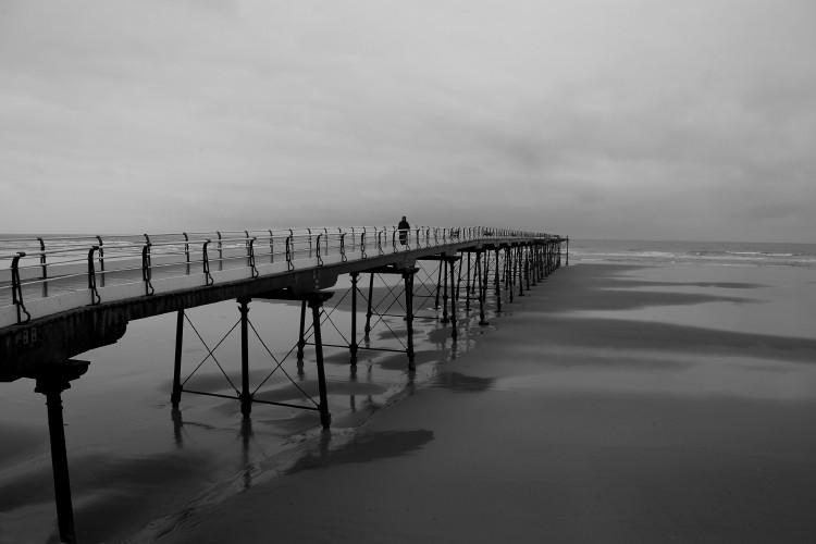 Solitude on Saltburn Pier