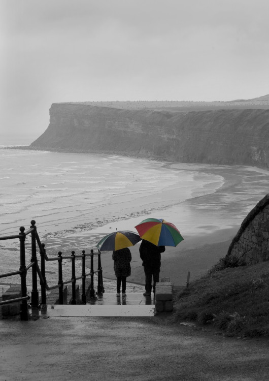 Umbrellas at Saltburn