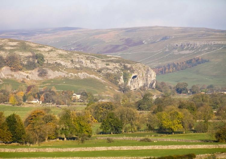 Kilnsey Crag in Autumn 2