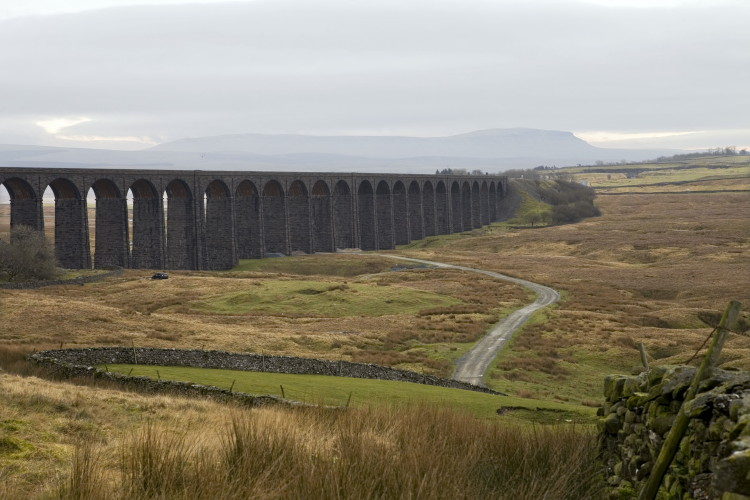 Ribblehead Viaduct with Pen Y Ghent behind