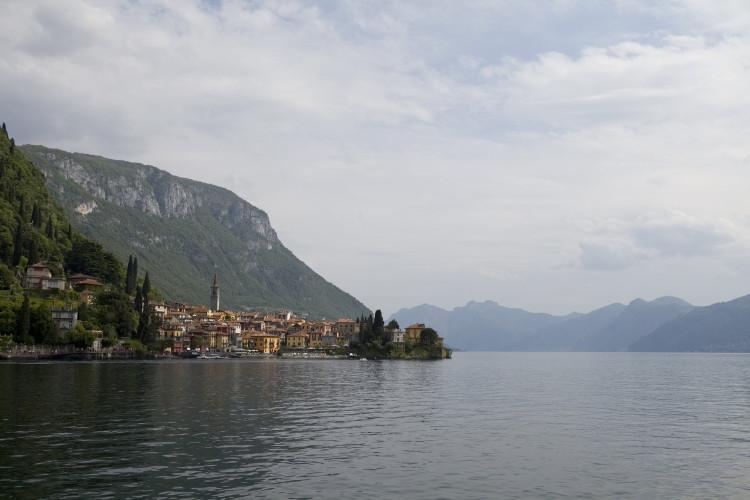 The town of Varenna on Lake Como
