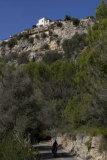 Looking up at Galilea village