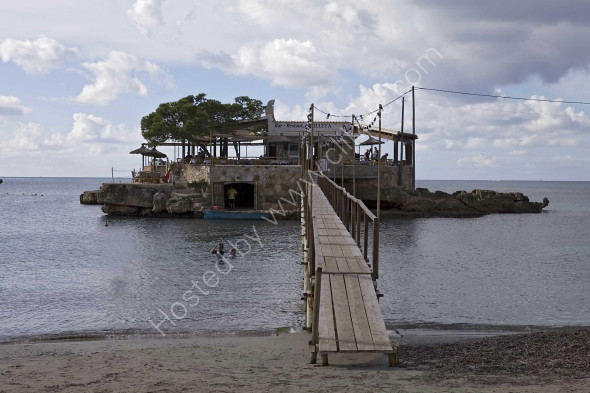 Restaurant at Camp de Mar beach