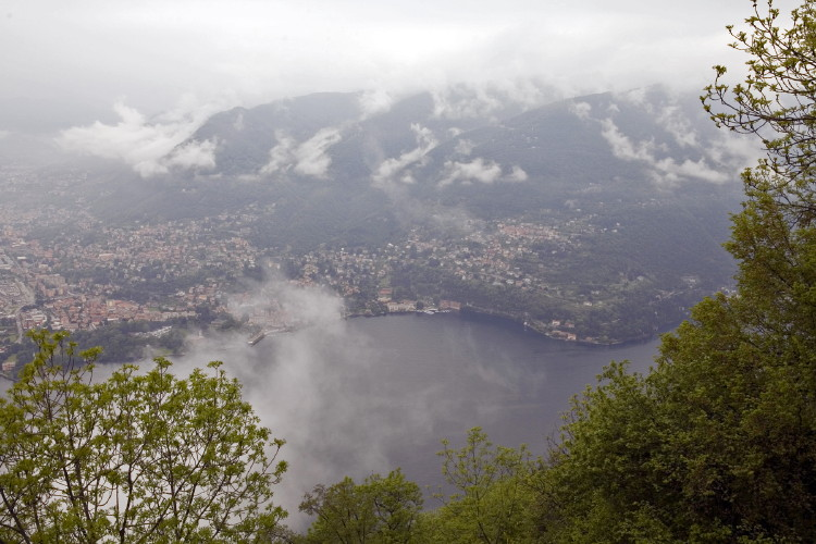 View from the village of Brunate above Como