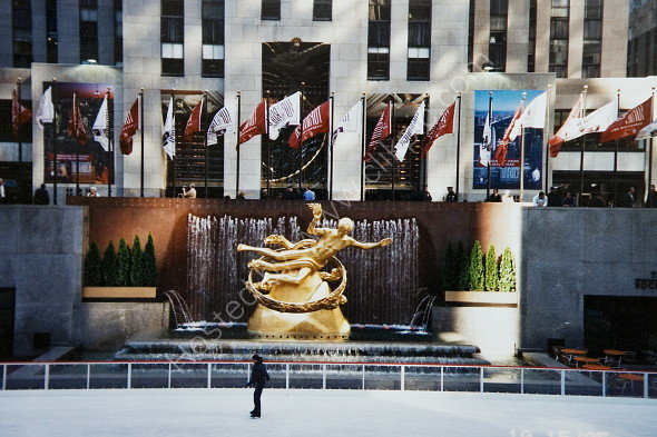 Rockefeller Centre with skating rink in front