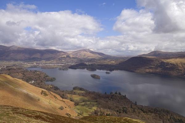 Derwentwater from Catbells, Lake District