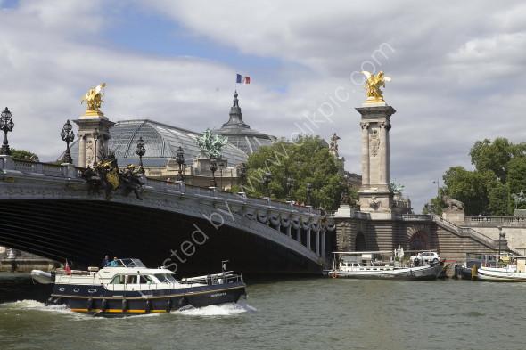 River Seine with Grand Palais behind