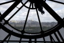 Montmartre through the clock window at Musee d'Orsay