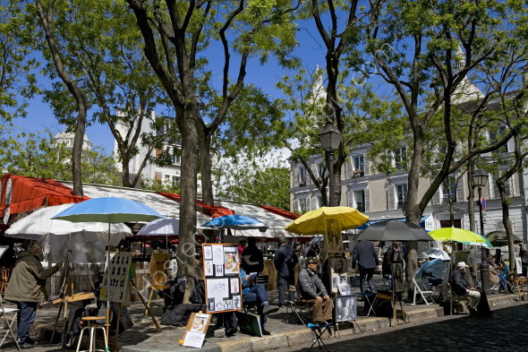 Artists in the square at Montmartre