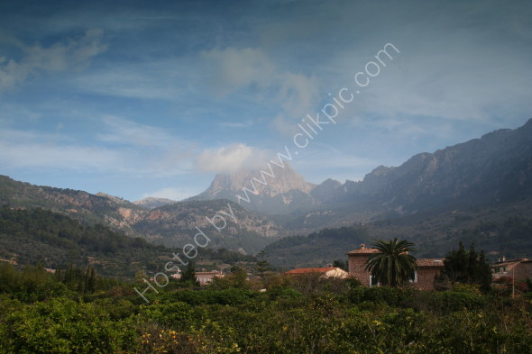 The mountains at Soller on the North coast