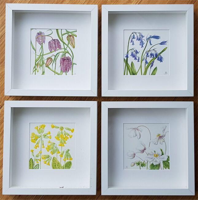 Set of 4 Spring Flowers