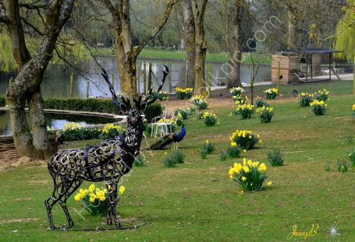 Sculpture at Prinknash Bird Park
