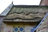 thatched roof on church