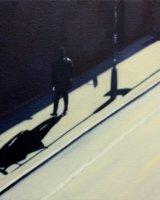 London road shadow - Oil on canvas 20x20cm - £125