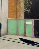 Oxford road shadow - Oil on canvas 20x20cm - £125