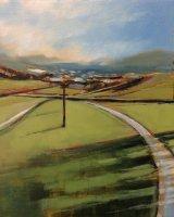 Highland stripes - Oil on wood 25x21cm - £145