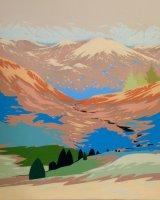 Highland pine - Oil on canvas 60x60cm - £525